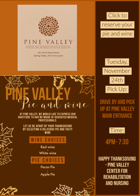 Pine Valley Pie and Wine - Pine Valley Rehab